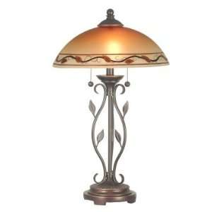 Dale Tiffany Garden Leaf Table Lamp in Antique Golden Sand