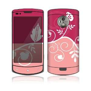LG Optimus 7 (E900) Decal Skin   Pink Abstract Flower