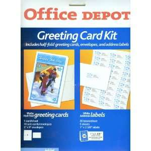 Half fold Greeting Cards & Envelopes, Address Labels) Office Products