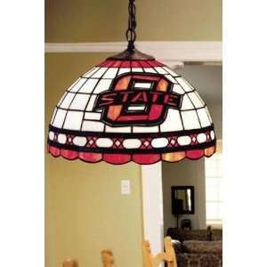 Team Logo Hanging Lamp 16hx16l Oklahoma State: Home Improvement