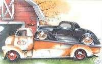 POS186 T Shirt Vintage 1936 CEO Hot Rod Hauler W Coupe