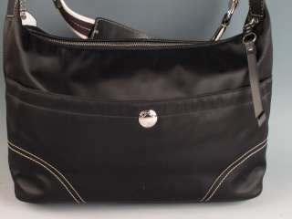 Coach Black Hamptons Large Weekend Hobo Handbag Bag Purse F11669