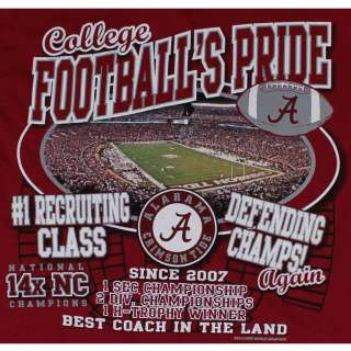 Crimson Tide Football T Shirts   Reload In 2012   Bryant Denny Stadium