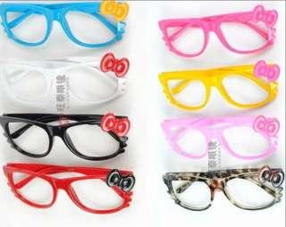 HelloKitty Bow Bowknot Women Girl Kawaii Glasses Frame Costume nerd