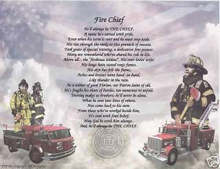 FIREMANS WIFE SPECIAL Poem Prayer Personalized NAME