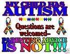Adult T shirt Autism Awareness *Autistic* Advice