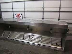 12 Foot Restaurant Grease Exhaust Ventilation Hood Stainless Steel W