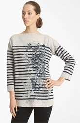 Jean Paul Gaultier Fuzzi Tattoo Pattern Knit Sweater $645.00