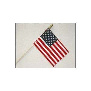 US Stick Flag on 24 Wooden Dowel with Spear Top: Patio, Lawn & Garden