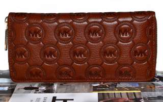 Pattern Real Leather Ladys Clutch Bag Wallet Purse Money Holder