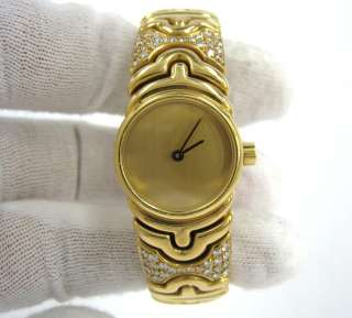 Parentesi BJ 01 Diamond 18K Yellow Gold Ladys Bangle Watch