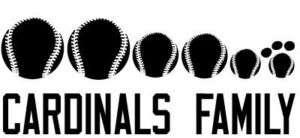 CARDINALS Baseball Family Vinyl Sticker Decal st. louis