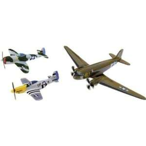 Corgi D Day Set Dakota, Mustang & Thunderbolt Models