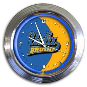 UCLA Bruins College 14 Chrome Neon Clock (NEW!) Sports