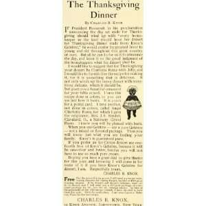 Desserts Black Americana Thanksgiving New York   Original Print Ad