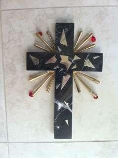 Salvador Dali Marble Cross Sculpture