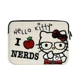 Hello Kitty I Love Nerds White Neoprene Laptop Case 13