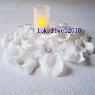 1000 White Silk Rose Petals Wedding Flower Favors