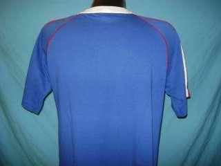 vintage NIKE ORANGE TAG BLUE RINGER MADE USA SOFT THIN t shirt M