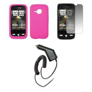 HTC Droid Eris   Premium Hot Pink Soft Silicone Gel Skin