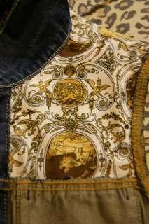 Custom made studded denim vest.Denim waistcoat(Snakeskin snapback,TISA