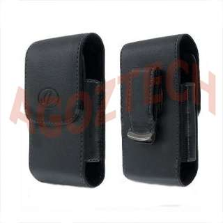 Black Vertical Leather Belt Clip Case Pouch Cover for CASIO G'ZONE