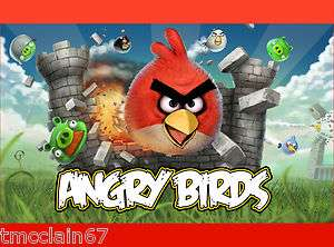 Angry Birds edible cake image   1/4 sheet