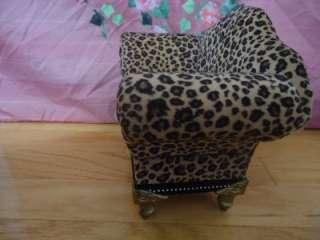 Cheetah Print Doll Settee /Sofa/Arm Chair~ For American Girl Dolls &16