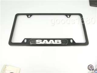 NEW SAAB Black Chrome Stainless Steel License Plate Frame Holder 9 3 9