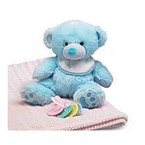 Soft Blue Cute Teddy Bear with Bib 8 Plush [Toy] Toys
