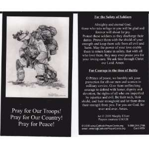 Pray For Our Troops Holy Prayer Card Wallet Size