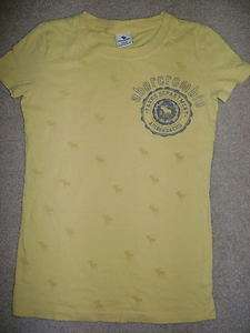 Abercrombie Kids Girl Baby Tee Shirt Sz Small Yellow AF