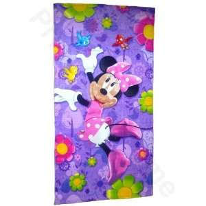 Girls Disney Minnie Mouse 100% Cotton Beach/Bath Towel: Home & Kitchen