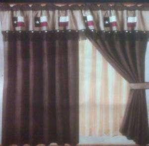 Western Texas Flag Curtain Drape Window Treatment