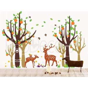 Deer   83in H  playroom kids baby wall decals stickers vinyl art Home