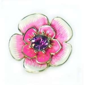 Betsey Johnson Jewelry Secret Garden Pink Flower Stretch Ring