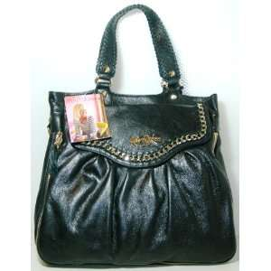Betsey Johnson Large Leather Satchel Handbag