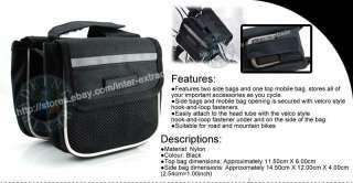 Bicycle Bike Head+Rear+2xWheel LED Flash Light+Tube Bag