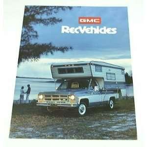 75 GMC REC Truck BROCHURE Jimmy Van Pickup Camper