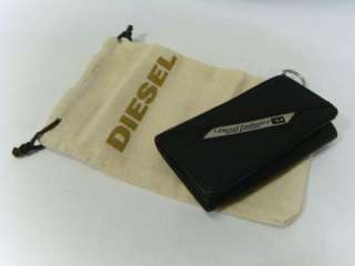 NWT Diesel Brand Black Leather Tri Fold Key Case