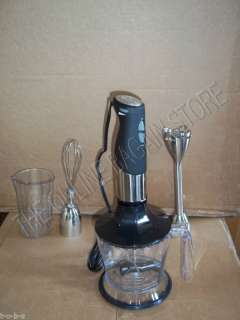 Frontgate Wolfgang Puck Immersion Blender Chopper Mixer Stainless
