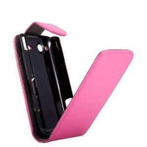 HTC Salsa Pink Specially Designed Leather Flip Case + FREE