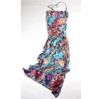 2012 Sexy Women Beach Sundress Long Ice Silk Dress Deep V Neck Full
