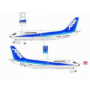 Jet X ANK Air Nippon B737 200 JA8456 Model Airplane