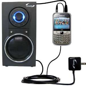 Speaker with Dual charger also charges the Samsung Chat 335