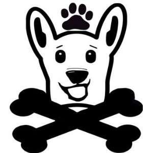Dog Crossbones Dog Lover Black Vinyl Decal Sticker
