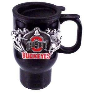 Ohio State Buckeyes 16 oz Black Stainless Steel Travel Mug