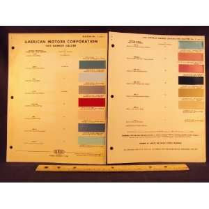1962 AMERICAN MOTORS Rambler Paint Colors Chip Page