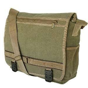 Classic Military Inspired Canvas Messenger Bag Backpack