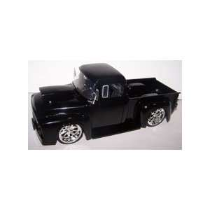 Scale Btm 1956 Ford F 100 with Hood Scoop in Color Black: Toys & Games